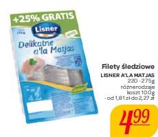 Filety śledziowe Lisner A'la Matjas