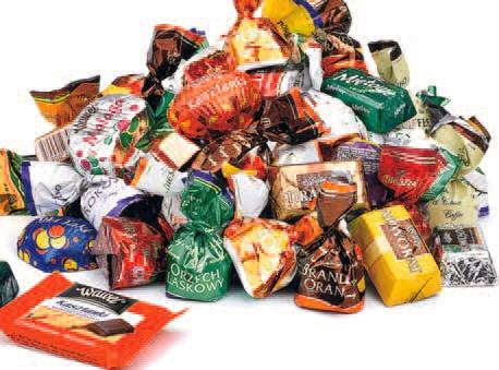 Cukierki czekoladowe premium Mieszko, Wawel, Solidaroność