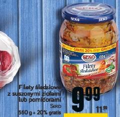 Filety śledziowe z suszonymi ziołami lub pomidorami SEKO
