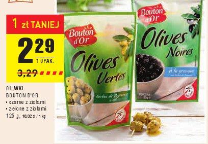 OLIWKI BOUTON D'OR • czarne z ziołami • zielone z ziołami