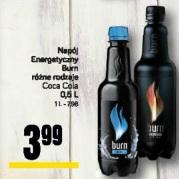 Napój Energetyczny Burn różne rodzaje Coca Cola