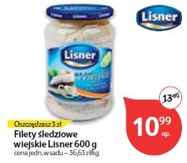 Filety śledziowe wiejskie Lisner 600 g