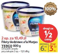 Filety śledziowe a'la Matjas Tesco 800 g