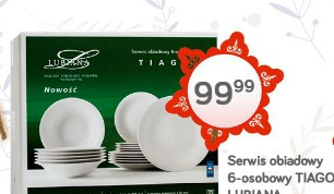Serwis obiadowy 6-osobowy Tiago Lubiana