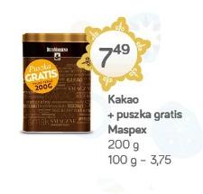 Kakao + puszka gratis Maspex