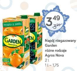 Napój niegazowany Garden różne rodzaje Agros Nova