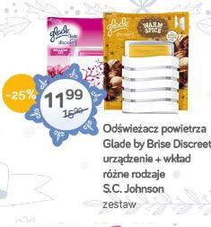 Odświeżacz powietrza Glade by Brise Discreet urządzenie + wkład różne rodzaje S.C. Johnson