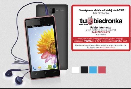 Smartphone Myphone Q-Smart + starter Tu Biedronka