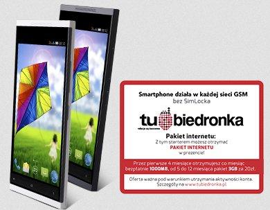Smartphone Myphone Luna + starter Tu Biedronka