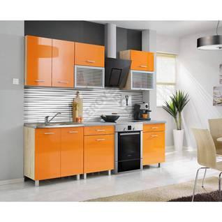 Zestaw mebli kuchennych FIONA MEBLE OKMED, pomarańcz