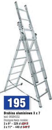 Drabina aluminiowa 3 x 7