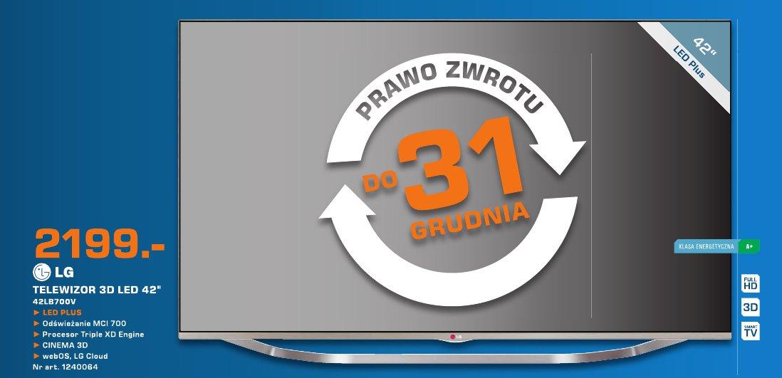 """LG Telewizor 3D LED 42""""  42L8700V"""