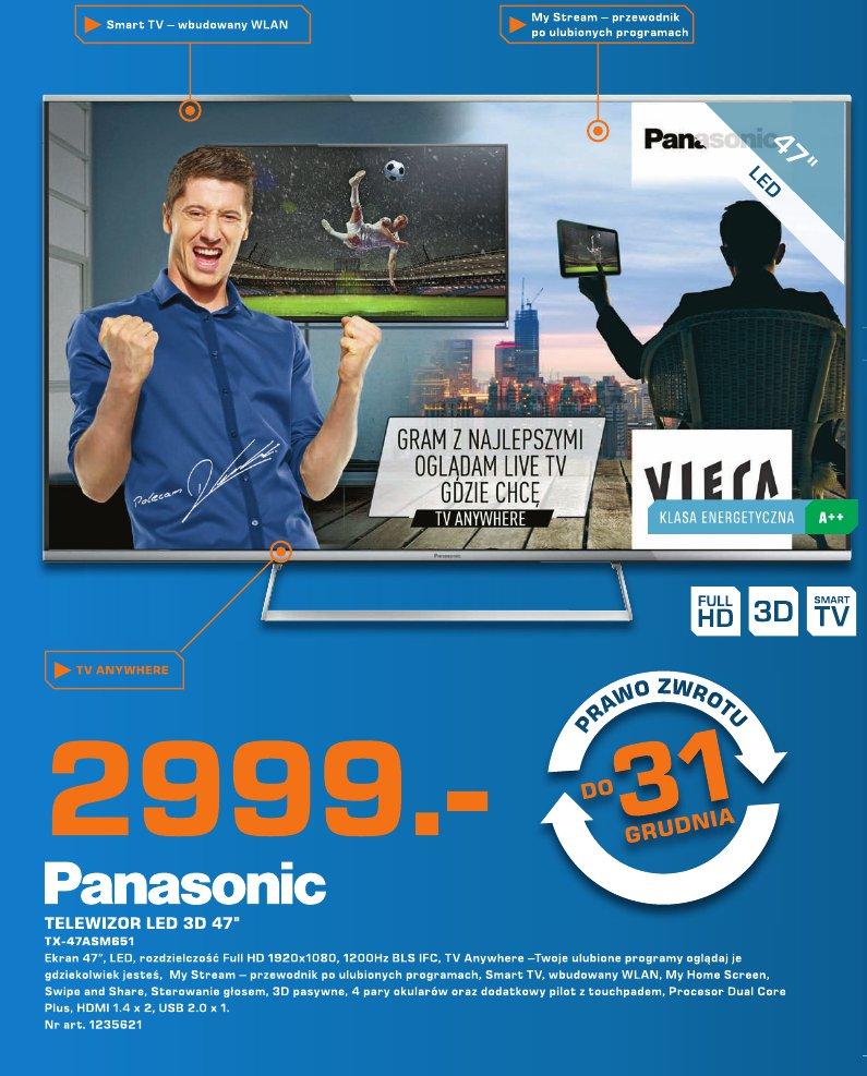 "Panasonic Telewizor LED 3D 47"""
