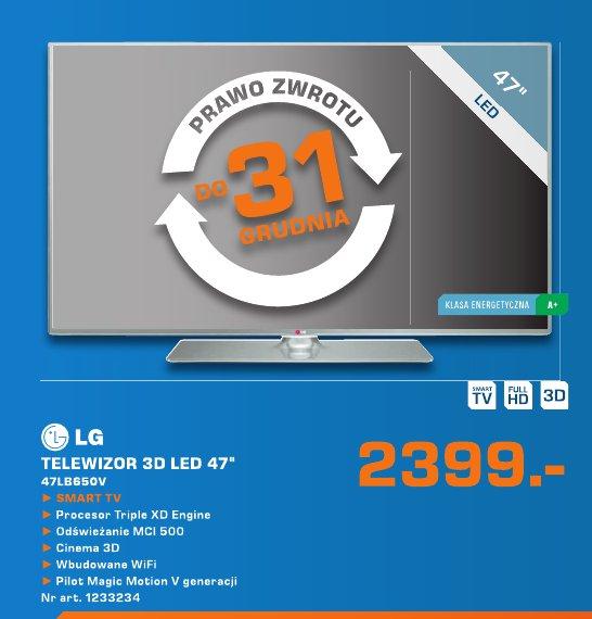 """LG Telewizor 3D LED 47""""  47LB650V"""
