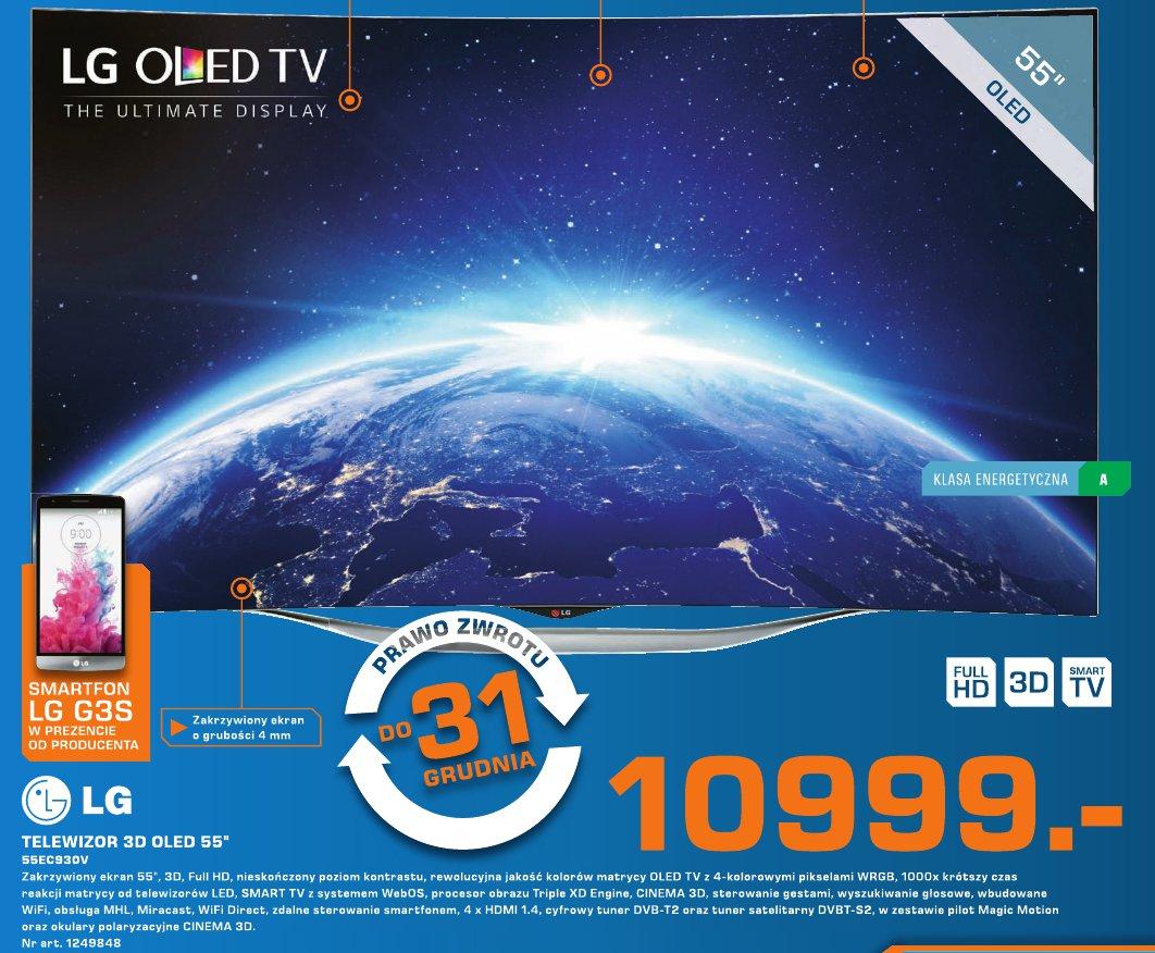 """LG Telewizor 3D OLED 55"""" 55EC930V"""