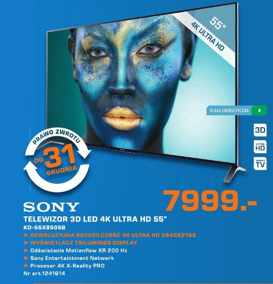 """Sony Telewizor 3D LED 4K Ultra HD 55"""" KD-55X8505B"""