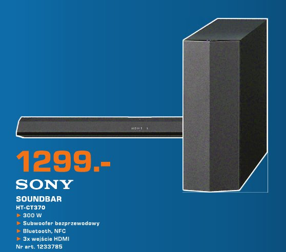 Sony Soundbar HT-CT370