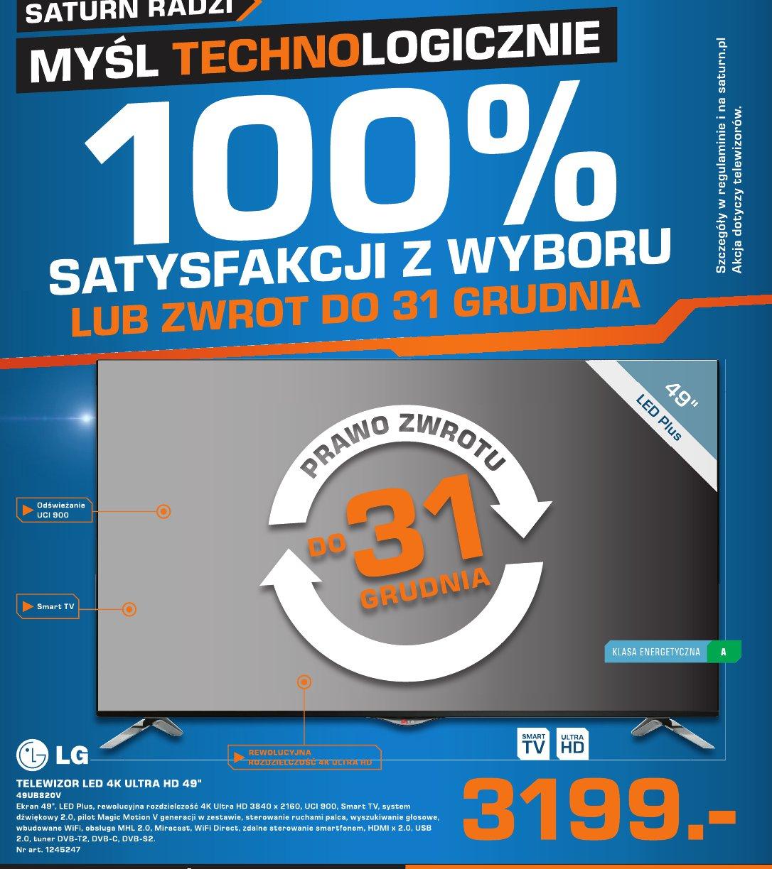 """LG Telewizor LED 4K Ultra HD 49"""" 49UB820V"""