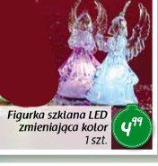 Fugurka szklana LED zmieniająca kolor