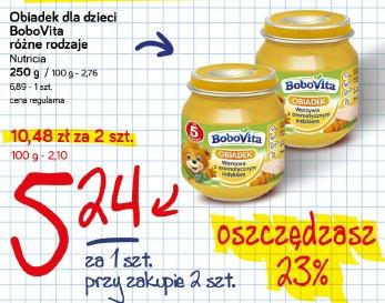 Obiadek dla dzieci BobVita różne rodzaje  Nutricia