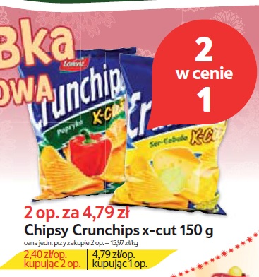Chipsy Crunchips x-cut 150 g