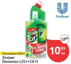 Zestaw: Domestos 1,25 l + Cif 1 l