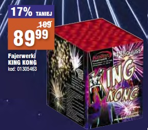 Fajerwerki King Kong