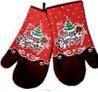 Zestaw rękawic 18 x 30 cm Merry Christmas 2 szt.