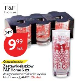 Zestaw kieliszków F&F Home 6 szt.