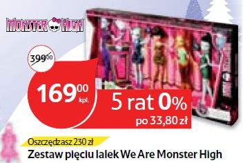 Zestaw pięciu lalek We Are Monster High
