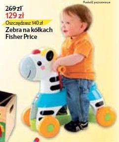 Zebra na kółkach Fisher Price