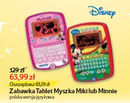 Zabawka Tablet Myszka Miki lub Minnie