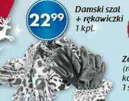 Damski szal + rękawiczki
