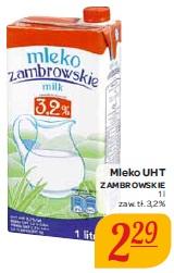 Mleko UHT Zambrowskie