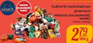 Cukierki czekoladowe premium Mieszko, Solidarność, Wawel