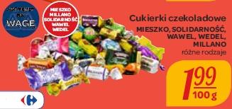 Cukierki czekoladowe Mieszko, Solidarność, Wawel, Wedel, Millano