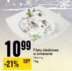 Filety śledziowe w śmietanie Herring