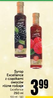 Syrop Excellence z cząstkami owoców różne rodzaje
