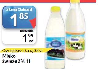 Mleko świeże 2% 1 l