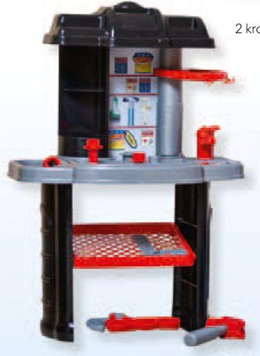 Warsztat dla małego majsterkowicza z zestawem narzędzi