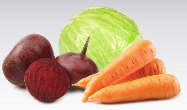 Kapusta biała, marchew lub buraki czerwone