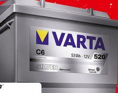 Akumulator Warta C6 Silver Dynamic 52 Ah, 520 A L-