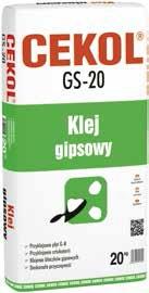 Klej gipsowy CEKOL GS-20