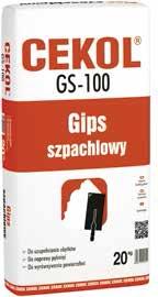 Gips szpachlowy CEKOL GS-100