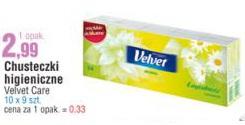 Chusteczki higieniczne Velvet Care