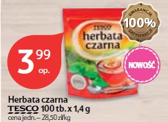 Herbata czarna Tesco 100 tb.x 1,4 g
