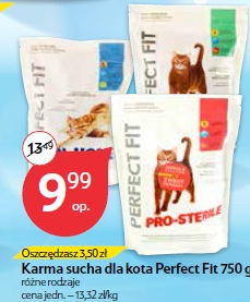 Karma sucha dla kota Perfect Fit 750 g