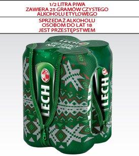 Piwo Lech Premium, puszka, 4x0,55 l