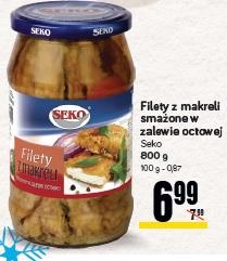 Filety z makreli smażone w zalewie octowej Seko