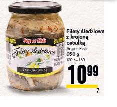 Filety śledziowe z krojoną cebulką Super Fish